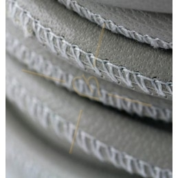 Leather round 6mm Creamgrey