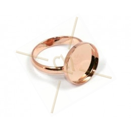 Ring plateau 15mm Roze Goud