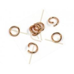 rondel 6mm roze goud