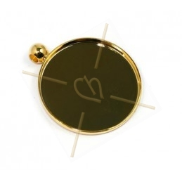 pendant for cabochon 24mm gold