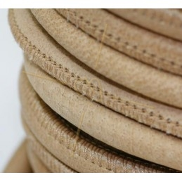 Leather round 6mm Natural
