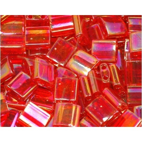 Tila bead Rouge transparent AB
