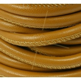 leather round 6mm Caramel