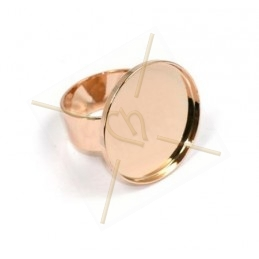 Ring plateau 30mm Roze Goud