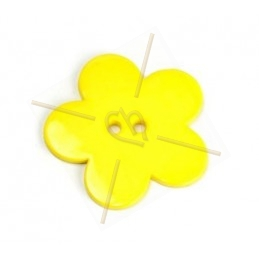 flower bigpop 40mm - yellow
