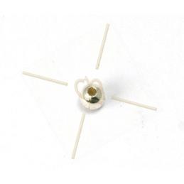 bola de metal 3*2mm agujero 1.3mm