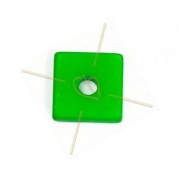 Polaris vierkant 15mm groen