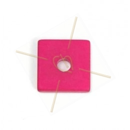 Polaris square 15mm Fuchsia