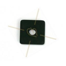 Polaris vierkant 15mm Zwart