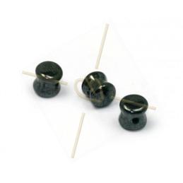 Pellet beads 4*6mm Jet...