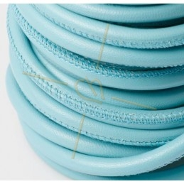 leather round 6mm Skyblue