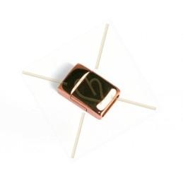 Fermoir magnetique acier pour 10mm plat rose gold