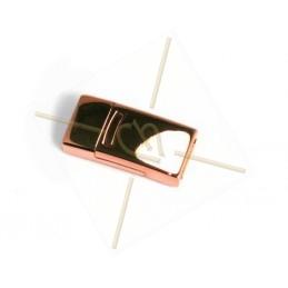 Fermoir magnetique acier pour 10mm plat or rose