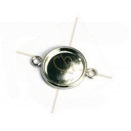 tussenstuk plateau 15mm met 2 ringen