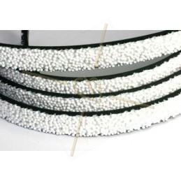 cuir plat 10mm caviar blanc