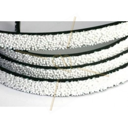 leder plat 10mm caviar wit