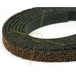 cuir plat 10mm caviar bronze