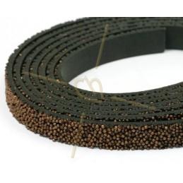leder plat 10mm caviar brons