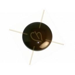 Cabochon Galastyl 24mm bruin
