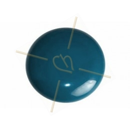 Cabochon Galastyl 30mm oker donkerturquoise