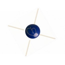cabochon galastyl 12mm Marineblauw