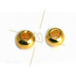 metal spacer balls 7*5mm hole 3.7mm gold