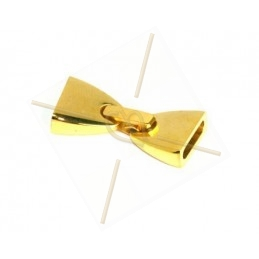 clasp flat steel  gold 10mm