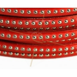 leather flat 5mm with metal ball