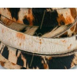 cuir plat 10 mm poilu vache