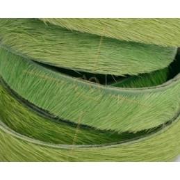 cuir plat 10 mm poilu vert clair
