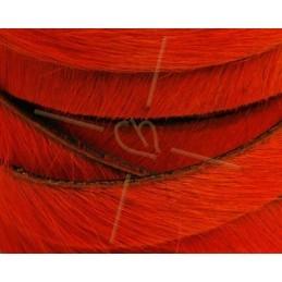 flat leather 10mm hairy orange