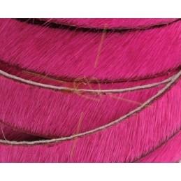 flat leather 10mm hairy fuschia