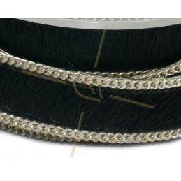Cuir plat 10mm avec chaine noir