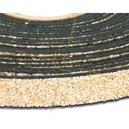 cuir plat 10mm sable creme