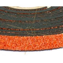 leather flat 10mm sand orange
