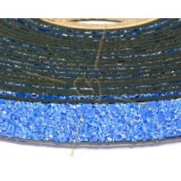 cuir plat 10mm sable bleu