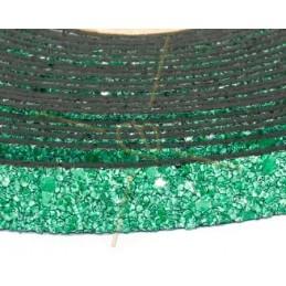 cuir plat 10mm sable vert