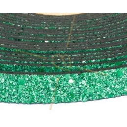 leder plat 10mm zand groen