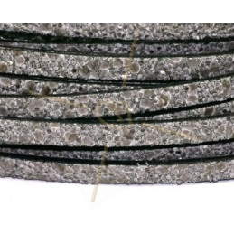 leder plat 5mm zand grijs