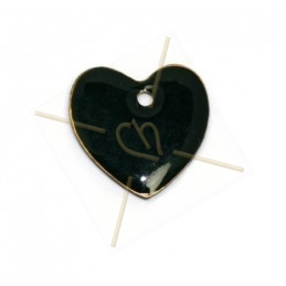 pendant 16mm enamel black