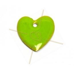 hanger 16mm emaille licht groen