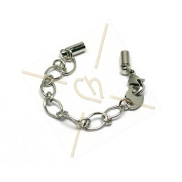 oval chain with carabiner + 2 bits int. 2.5mm