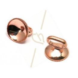 holder for ss39 1122 for leather 5mm rose gold