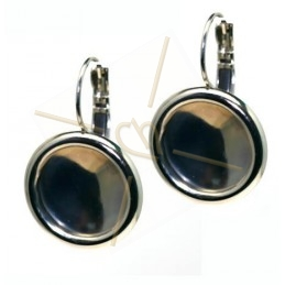 earrings with border for rivoli 14mm