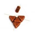 Kheops® Par Puca® kralen 6mm Bronze Red Mat