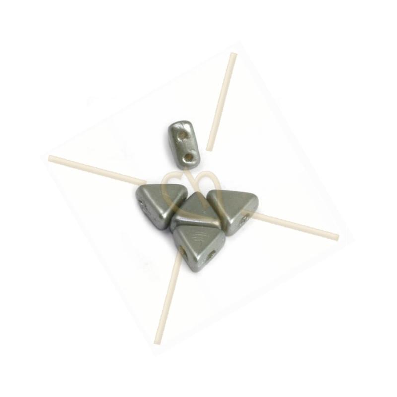 Kheops® Par Puca® perles 6mm Pastel Light Grey Silver