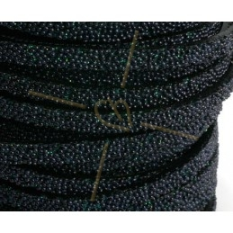 leather flat 5mm caviar black