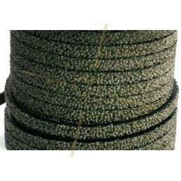 cuir plat 5mm caviar gris fonce