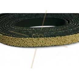 Leder plat 10mm caviar Beige