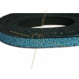 leather flat 10mm caviar Lightbleu